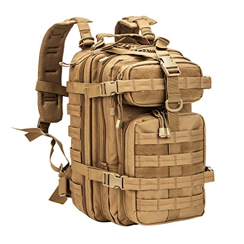 WolfWarriorX Small 30L Tactical Backpack Military Assault Pack Rucksack Molle Bag (Coyote)