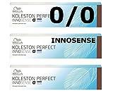 Wella Innosense 0/0 Natural Koleston - 3 unidades, color marrón oscuro, reduce el riesgo de alergia, 60 ml