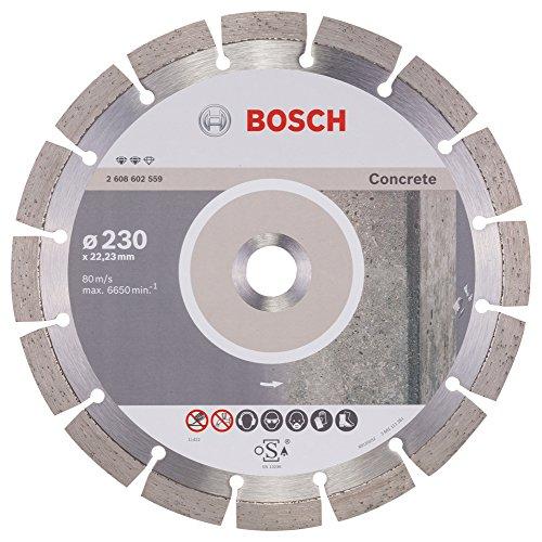Bosch Professional Diamanttrennscheibe Expert für Concrete, 230 x 22,23 x 2,4 x 12 mm, 2608602559