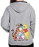 Disney Zip Hoodie Eeyore Winnie The Pooh Piglet Tigger - grey - S