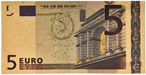 Lot 5 10 20 50 100 200 500 EUR Gold Banknoten in Gold 24K gef/älschten Banknoten for Sammlung Euro-Banknote Sets HUIJUNWENTI 7pcs Gr/ö/ße : 5