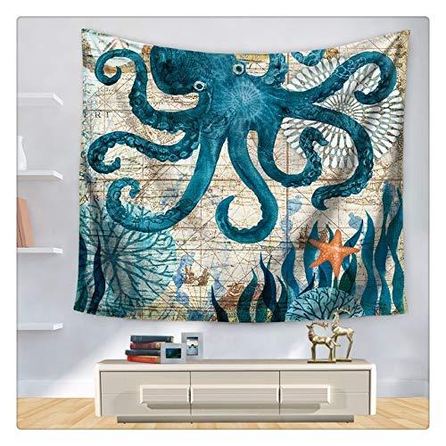 Tapiz Cortinas subacuáticas Mundo Hippie Tapiz Animal Tortuga Mar Pared Manta Decorativa Casa Tela Tapices Picnic Matparty