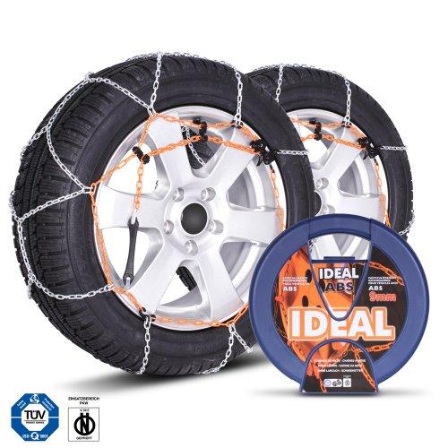 Ideal Chaînes à neige I4 ABS 9 mm homologuées TUV universelles pour pneus 175/65 R13, 195/55 R13, 175/60 R14 et plus