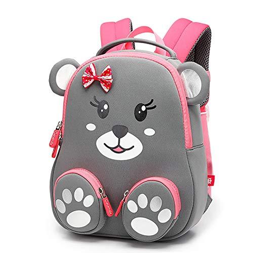 SULUO Bär Cartoon Druck Kinder Schultaschen für Mädchen Kindergarten 3D Tier Wasserdichter Rucksack 1-4 Jahre Boy Girl Lunch Bag Tagesrucksack