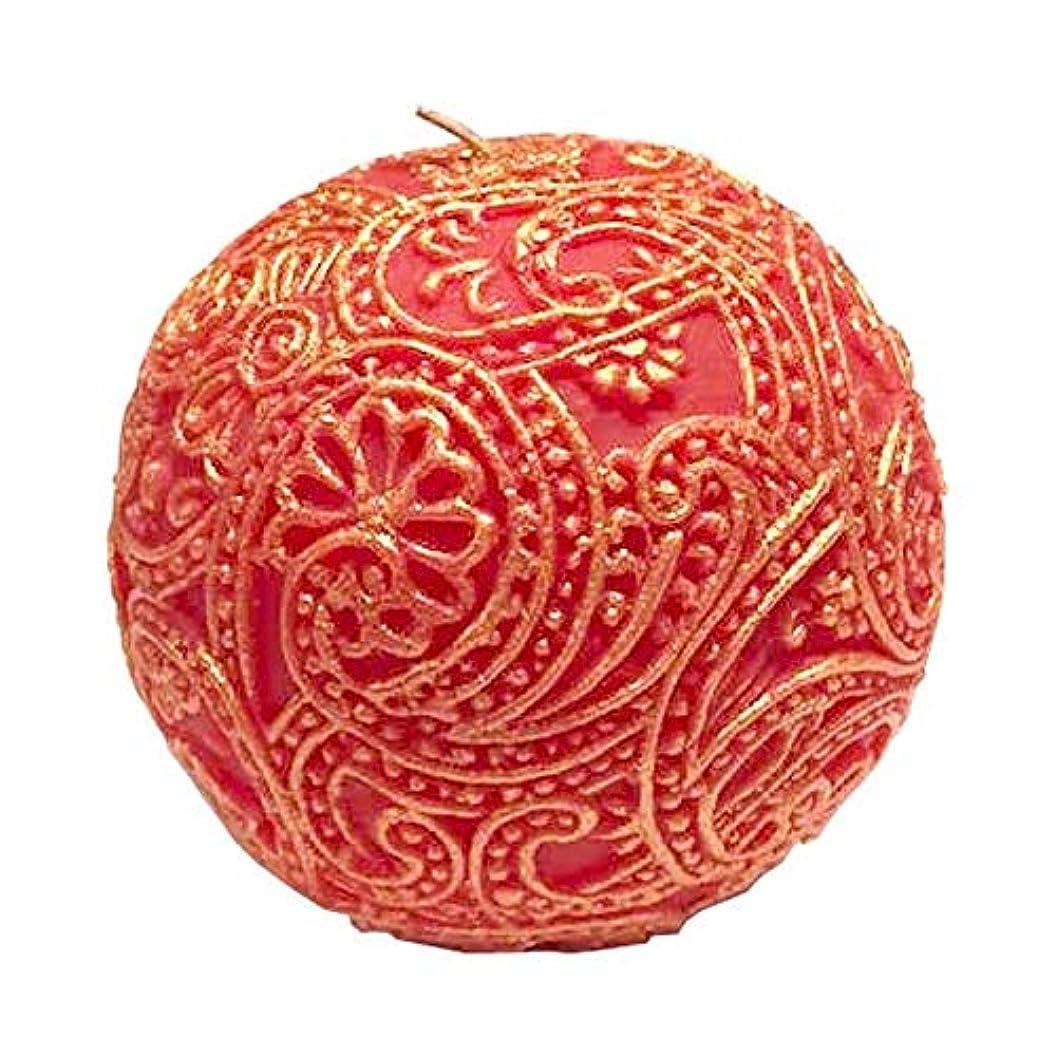 結果海港ボートペイズリー Globular (Red×Gold)