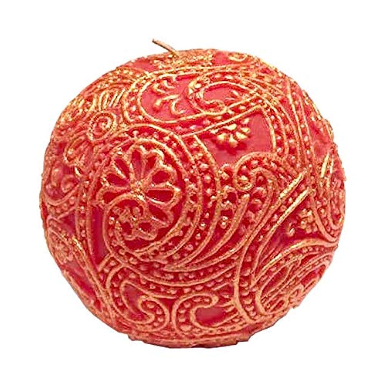 柔和詩再撮りペイズリー Globular (Red×Gold)