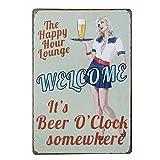 ULTNICE Vintage Metall Post Bar unterzeichnet Plauge Tin Sign Werbung für Pub-Shop-Wand-Dekor, es...