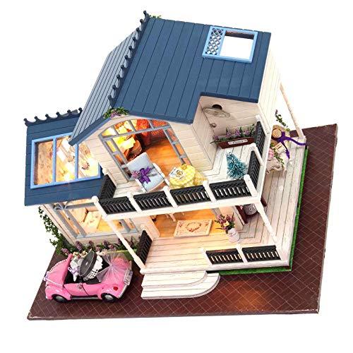 BIYM - Casa de muñecas en Miniatura de Madera Ma Provence Villa Lavanda
