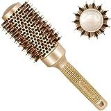 Spazzola rotonda 43mm, SUPRENT spazzole per capelli con setole di cinghiale naturale,spazzola per capelli rotonda per asciugatura, arricciatura e stiratura