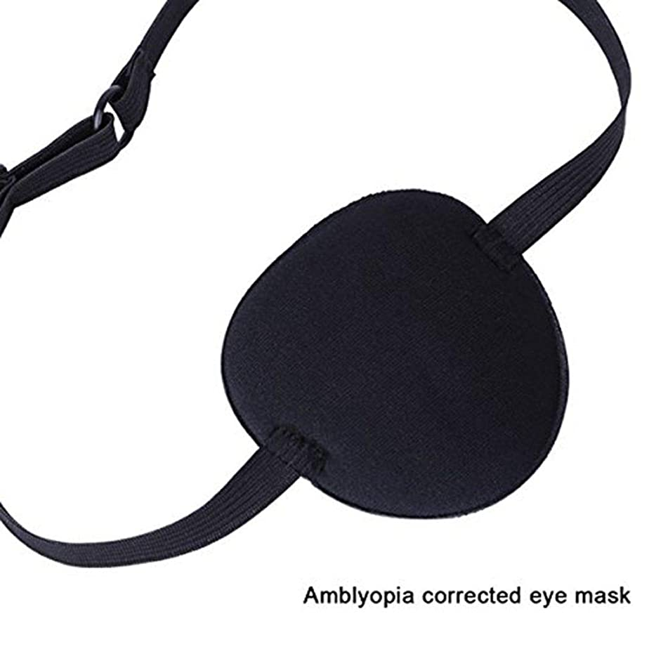 Agoky Medical Use Concave Eye Patch 3D Foam Groove Eyeshade to Treat Lazy Eye Amblyopia Strabismus for Adults Kids Black One Size