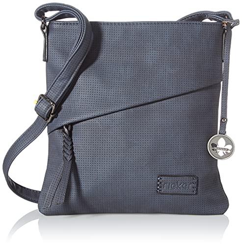 Rieker Damen H1010 Handtasche, Blau, 238x25x254