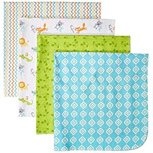 Luvable Friends Unisex Baby Cotton Flannel Receiving Blankets