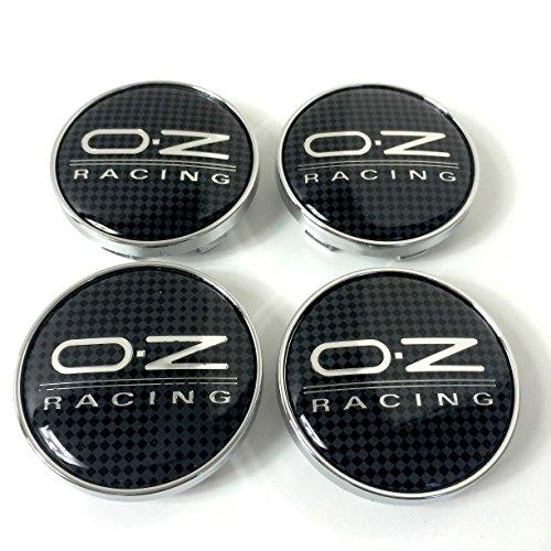 Set of 4 OZ Racing Alloy Wheels Centre Hub Caps 60mm Cover Carbon Effect Wheel Badge O. Z. O-Z Set von 4 OZ Racing Alufelgen Center Radkappen Radkappen Nabendeckel Nabenkappen 60mm Abdeckung Carbon- E