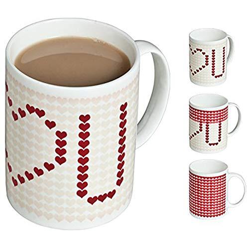 Cadeaux Gadgets - Taza de café con efecto térmico, diseño de corazón