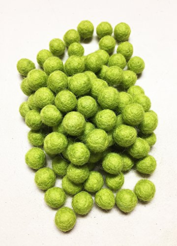 Yarn Place Felt Wool Felted 100 Balls 10mm 1 Color Pack (Charteuse GN3)