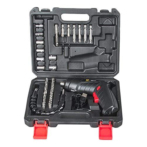 Hangarone Destornillador eléctrico, juego de destornilladores eléctricos, kit de batería para apretar y aflojar tornillos de 3,6 V.