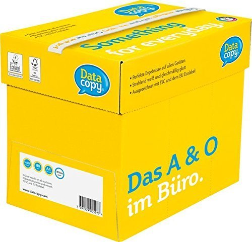 Data Copy Everyday Paper 80 gsm Non Stop Box 2500 Sheets No Ream Wrap A4 White