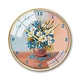 Reloj de pared LF, marco de metal, decoración de pared, patrón creativo, silenciador de cuarzo, creativo
