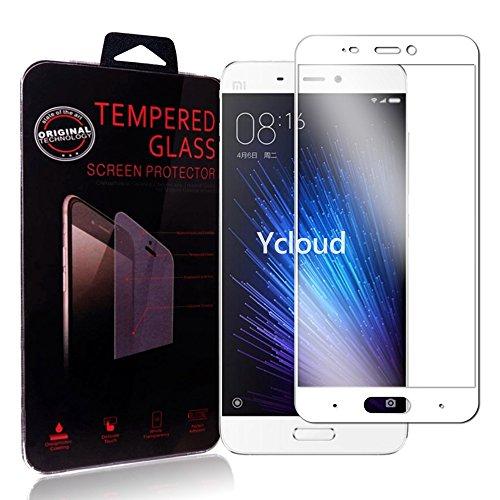 Ycloud Für Xiaomi Mi5 Schutzfolie Panzerglas Bildschirmschutzfolie, Volldeckender vorgespannter Film Anti-Kratz Schutzfolie Für Xiaomi Mi5 - Weiß