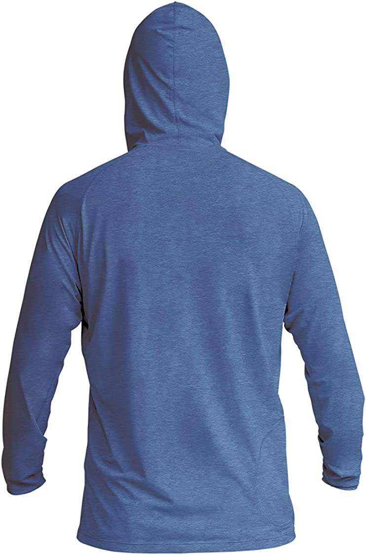 XCEL Mens Heathered Ventx Hooded Pullover Long Sleeve Rashguard