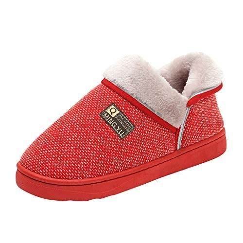 Anliyou kuschelig warm Hausschuhe Damen plüsch Pantoffeln leicht stylisch Schlappen Home Indoor Slipper Hauspantoffeln mit rutschfest Hausschlappen für Mädchen