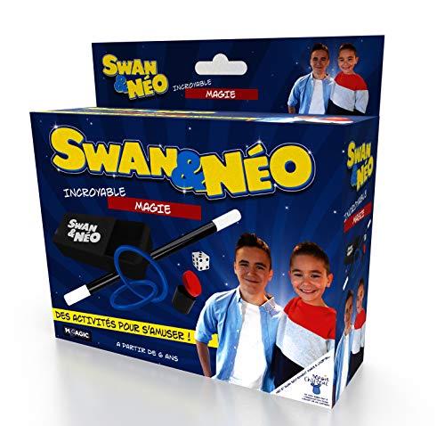 Megagic- Incroyable Coffret DE Magie Swan ET Neo, NS3, Bleu ET Jaune