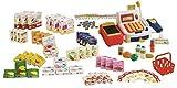 roba Kaufladenzubehör, Kasse, Spielgeld, Einkaufskorb, Lebensmittel Set & Angebotsschilder