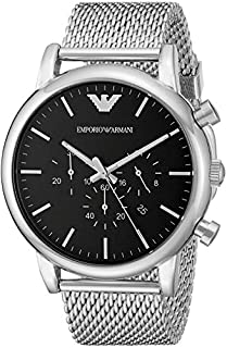 Emporio Armani Men AR1808 Classic Silver Tone Stainless Steel Watch