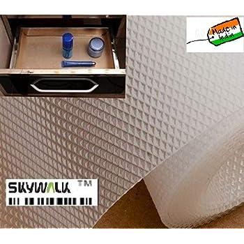 Skywalk Multipurpose Polyester Blend Super Strong Textured Anti Slip Eva Mat, 5m, White