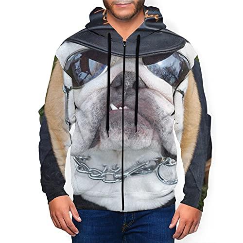 Dr. Dakota Men's Unisex Zipper Hoodies Sweatshirt French Bulldogs Police Officer Pullovers 3D Print Tracksuit Zip-Up Jacket