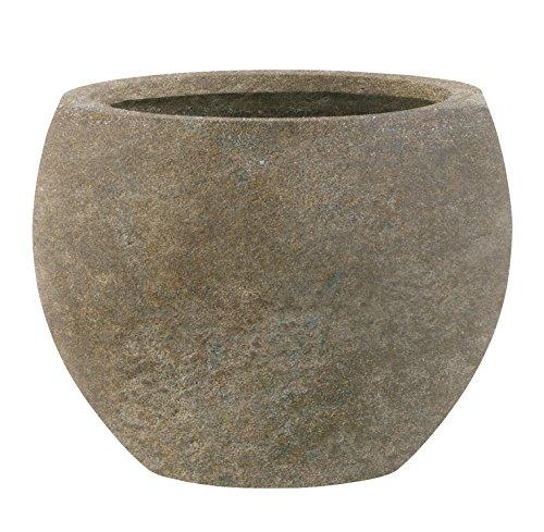 Esteras Emsa 800087 Fiberglas Blumenkübel Pflanzkübel Übertöpfe Woodley Old Stone 36cm