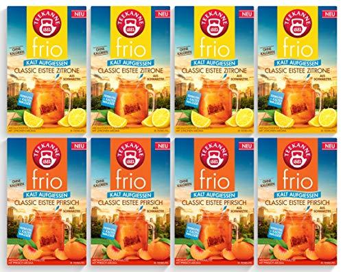 Teekanne frio Eistee 8er Pack - Classic Eistee Pfirsich und Zitrone (8 x 45g)