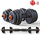 SUYJQ Adjustable Dumbbells Set, Barbell Combination Detachable, with Non-Slip Fitness Home Training Dumbbell 10kg - 30kg for Exercise Arm and Body Muscles,Size:20kg (Size : 10kg)