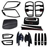 JHCHAN Auto Offroad Body Kit Copertura per Ford Ranger Wildtrak Accessori T6 T7 T8 Styling carrozzeria ABS Nero (2012-2014 Body Kits)