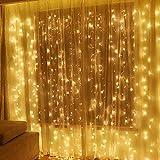 Twinkle Star 600 LED Window Curtain String Light...