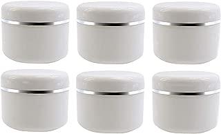 ericotry - Botes de plástico vacíos con Tapa de cúpula para cosméticos, Crema, Labios, bálsamo, loción de Almacenamiento, Caja de Viaje, Paquete de 6 Unidades, 20 ml/50 ml/100 ml