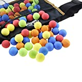 Ryhn Black Nerf Rival Ball Pocket with 100 Rounds Bulk Refill Ammo Bullet Balls Replacement for Nerf Rival Artemis for Nerf Rival Khaos