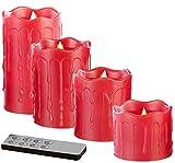 Britesta Adventsdeko-Kerzen-Kranz: Adventskranz mit roten LED-Kerzen, rot geschmückt (Weihnachtsschmuck LED-Beleuchtung) - 9