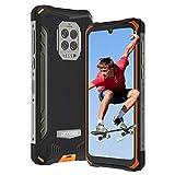 Móvil Resistente, DOOGEE S86 Pro Telefono Móvil Libre Resistente IP68, Pantalla HD+ 6.1', 8500mAh, 8GB + 128GB, Cámara Triple de 16MP, 4 LED Flashes, Face ID/Fingerprinte, NFC, OTG, GPS (Naranja)