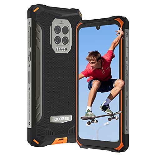 Móvil Resistente, DOOGEE S86 Pro (2021) Teléfono Movil Libre, Pantalla 6.1' Impermeable Smartphone IP68, 8500mAh, Octa-core, 8GB + 128GB Moviles Baratos, Cámara Triple de 16MP, NFC, GPS, OTG (Naranja)