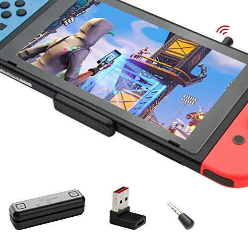 GULIkit Route Air+ Pro Bluetooth Adapter Audio Transmitter für Nintendo Switch/Switch Lite PS4 PC, USB-C Bluetooth Dongle mit aptX Low Latency kompatibel mit Bluetooth Kopfhörer - Schwarz