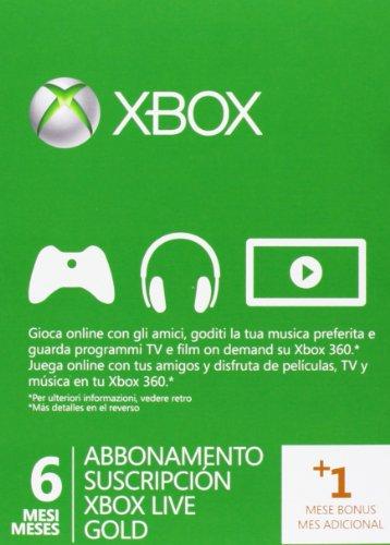 Xbox Live - Gold Card 6 Mesi + 1 Mese Bonus