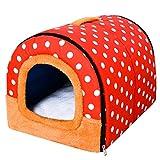 Cesta para Mascotas de Felpa 4 Colores Diferentes y 3 tamaños - Lavable y Resistente a los arañazos casa para los Perros y Gatos (Style 10, S)
