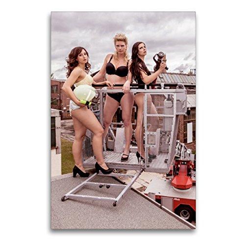 CALVENDO Premium Lienzo 60 cm x 90 cm de Alto, Sexy Bomberos Imagen Imagen en Bastidor, Listo en Lienzo auténtico, impresión en Lienzo Menschen Personas