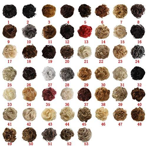 Haargummi-Haarteil, für Haarknoten/Pferdeschwanz, Haarverlängerung, gewellt, unordentlicher Haarknoten, Dutt, Hochfrisur, Haarteil,13