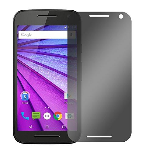 Slabo Blickschutzfolie für Motorola Moto G (3. Generation) Sichtschutz Bildschirmschutzfolie View Protection Schwarz - Privacy Made IN Germany