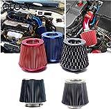 Car Air Intakes Filtro de aire universal 76mm 3 pulgadas de alto flujo de automóviles de aire frío filtro de admisión de aluminio inducción de inducción Manguera de hongos cabeza Car Air IntakesYlcxdm