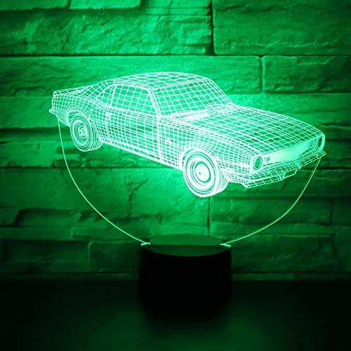 Sanzangtang Led-nachtlampje, 3D-vision-septkleuren, afstandsbediening, anime nachtlampje, automatisch dynamisch voor de decoratie van het huis, aansteker met leuke visuele effecten