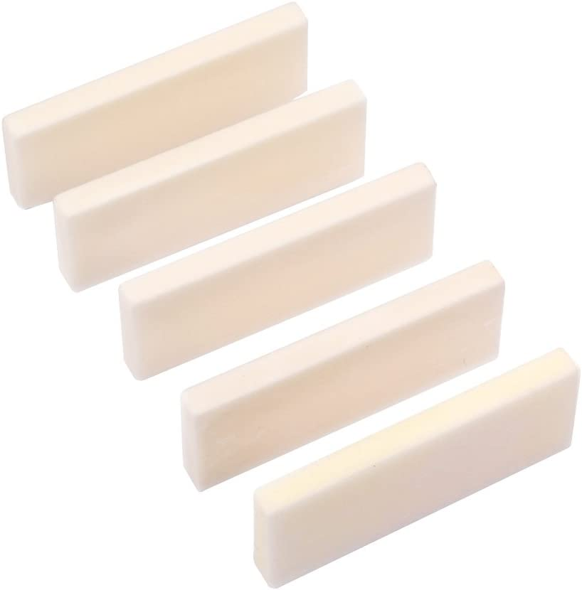 HEALLILY 5PCS DIY Buffalo Bone Blank Guitar Saddle for Nut Strin A Denver Mall surprise price is realized