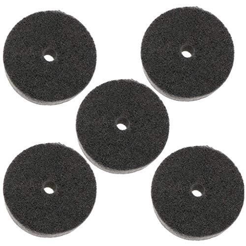 POFET 5 ruedas de pulido de fibra de nailon de 75 mm, para quitar rebabas, pintura, polvo para amoladora de banco.